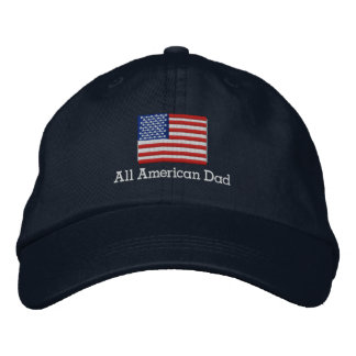 Todo el gorra americano de la bandera del papá gorra de béisbol