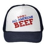 Todo el gorra americano de la carne de vaca
