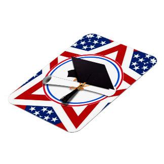 Todo el graduado americano - blanco rojo y azul en imán