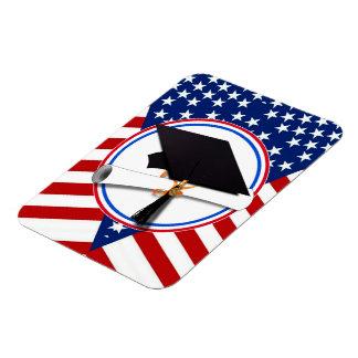 Todo el graduado americano - blanco rojo y azul en imanes rectangulares