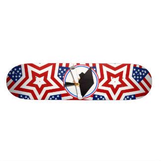 Todo el graduado americano - blanco rojo y azul en tablas de skate