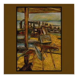 """Todo el gran comienzo de las pinturas con un invitación 5.25"""" x 5.25"""""""
