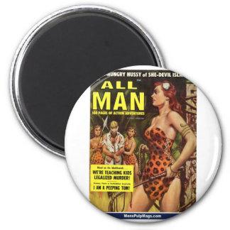 Todo el hombre, mayo de 1959 imán redondo 5 cm