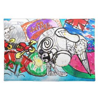 """""""Todo el kiwi de las cosas"""" creó de los dibujos de Mantel Individual"""