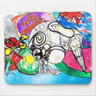 Todo el kiwi de las cosas creó de los dibujos de alfombrilla de raton