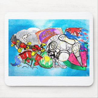 Todo el kiwi de las cosas creó de los dibujos de alfombrilla de ratón