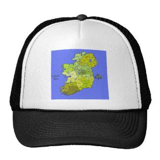 Todo el mapa irlandés de Irlanda Gorros Bordados