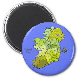 Todo el mapa irlandés de Irlanda Imán De Frigorifico