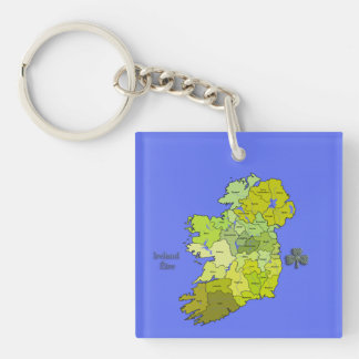 Todo el mapa irlandés de Irlanda Llaveros