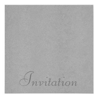 Todo el mediados de vetear gris de los invitación 13,3 cm x 13,3cm