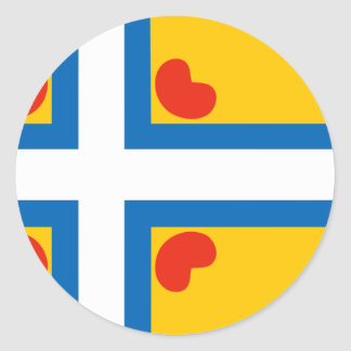Todo el modelo   de Scandinavial del Frisian, Pegatina Redonda