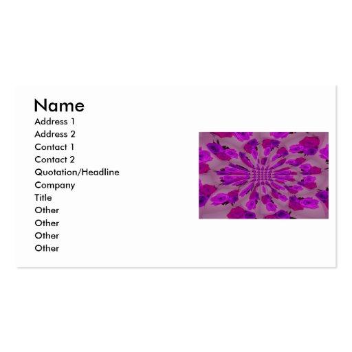 Todo el modelo púrpura de la explosión de un solo tarjetas de visita