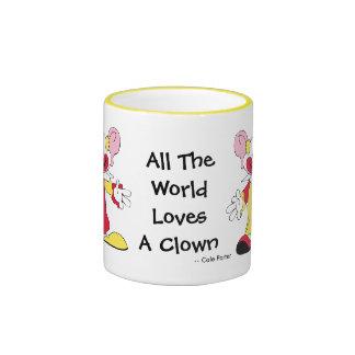 Todo el mundo ama una taza de cerámica del payaso