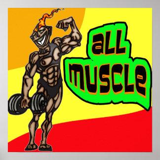 Todo el músculo posters
