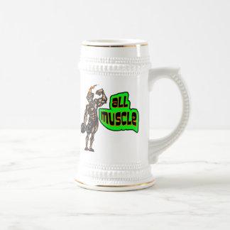 Todo el músculo taza de café