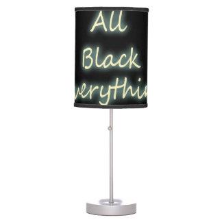 Todo el negro todo - cita lámpara de escritorio