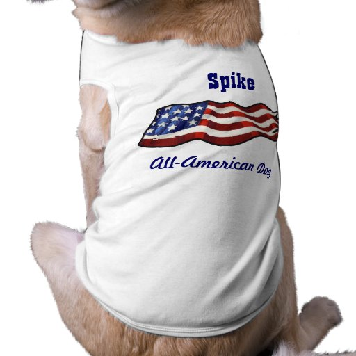 Todo el nombre personalizado patriótico del perro camiseta sin mangas para perro