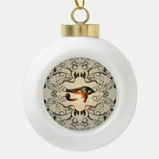 Todo el ojo que ve adorno de cerámica en forma de bola