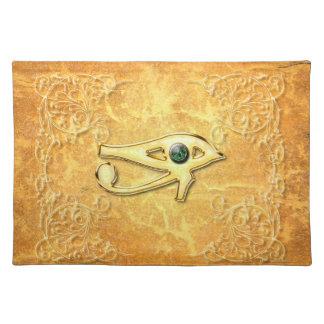 Todo el ojo que ve con el ojo hecho de diamante mantel individual