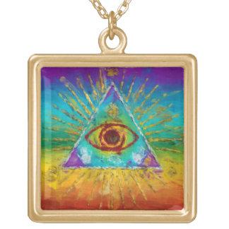 Todo el ojo que ve de dios - arte incompleto abstr joyeria personalizada