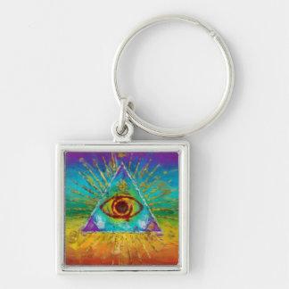 Todo el ojo que ve de dios - arte incompleto abstr llaveros personalizados