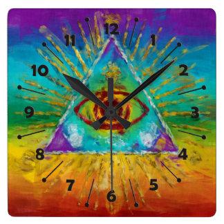 Todo el ojo que ve de dios - arte incompleto abstr reloj