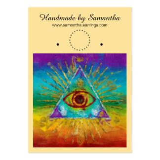 Todo el ojo que ve de dios - arte incompleto + sus tarjetas de visita grandes