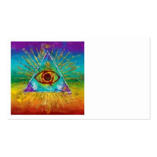 Todo el ojo que ve de dios - arte incompleto tarjetas de visita
