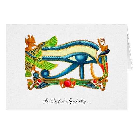 Todo el ojo que ve de Horus - en la condolencia má Felicitación