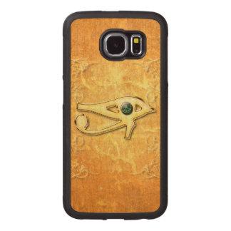 Todo el ojo que ve funda de madera para samsung galaxy s6