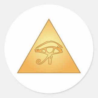 Todo el ojo que ve/ojo de Horus: Pegatinas Redondas