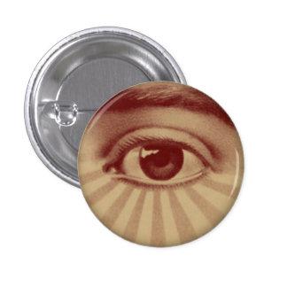 Todo el ojo que ve pin redondo de 1 pulgada