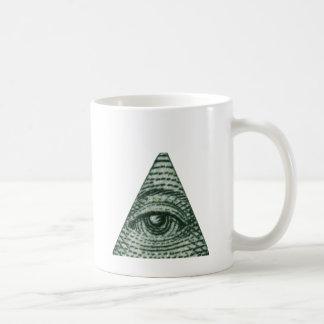 Todo el ojo que ve taza de café