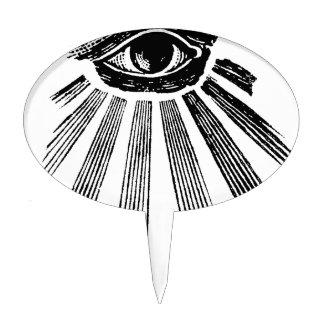 Todo el orden mundial de Illuminati del ojo que ve Figura Para Tarta