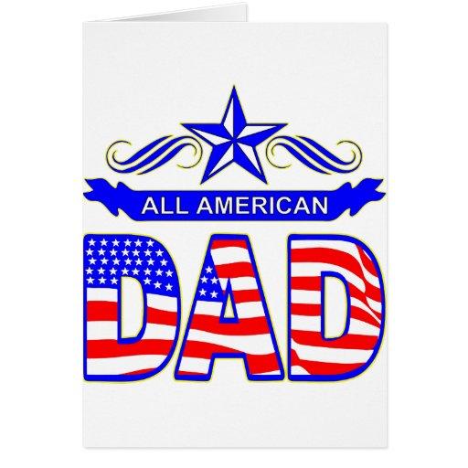 Todo el papá americano tarjeta de felicitación