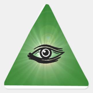 Todo el pegatina del triángulo del ojo que ve