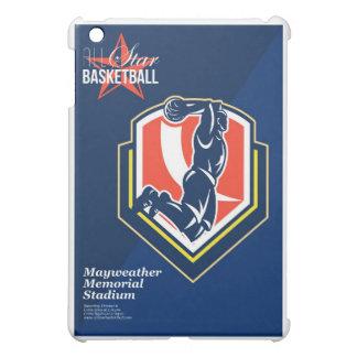 Todo el poster retro del baloncesto americano
