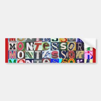 ¡Todo el punto de las muestras a Montessori! Pegat Etiqueta De Parachoque