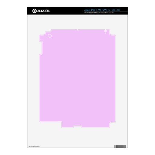 Todo el rosa nada pero colorea rosa claro rosado pegatinas skins para iPad 3