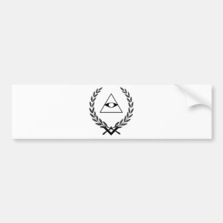 Todo el simbolismo F&AM del escudo del ojo que ve Pegatina De Parachoque