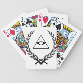 Todo el simbolismo F&AM del escudo del ojo que ve Baraja Cartas De Poker
