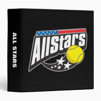 """Todo el tenis de las estrellas carpeta 1 1/2"""""""
