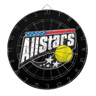 Todo el tenis de las estrellas tablero de dardos