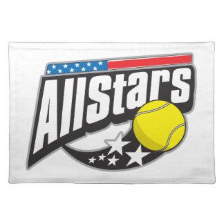 Todo el tenis de las estrellas manteles individuales