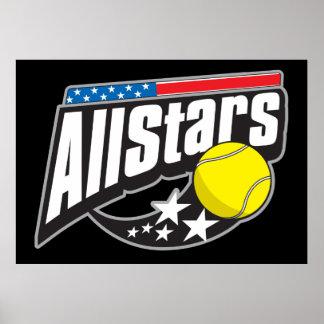 Todo el tenis de las estrellas poster
