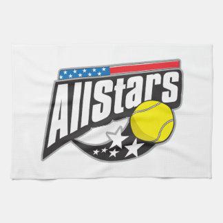 Todo el tenis de las estrellas toalla