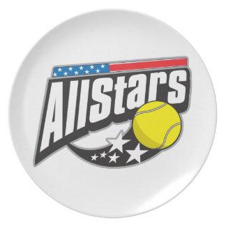 Todo el tenis de las estrellas platos