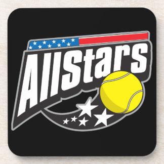 Todo el tenis de las estrellas posavasos de bebidas