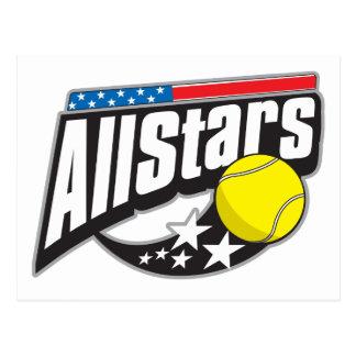 Todo el tenis de las estrellas postal
