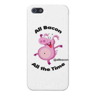 Todo el tocino todo el tiempo iPhone 5 funda